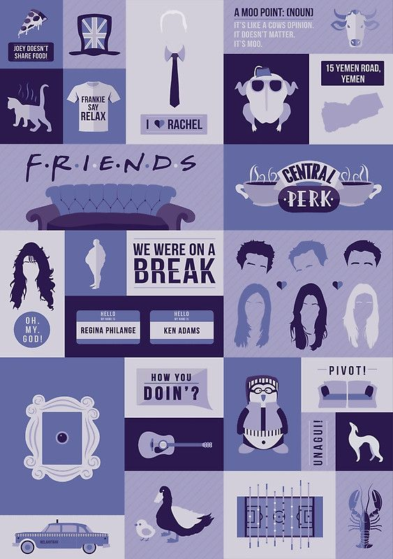 """Friends TV Show"" Posters by ceobrien 