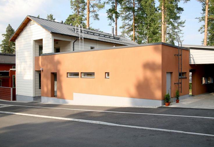 Honka Blockhaus Modell Rock Vorderansicht