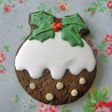 Christmas pudding gingerbread biscuits - sounds nice without the icing