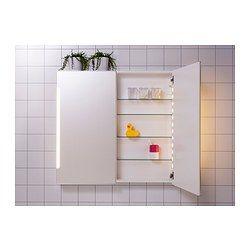 STORJORM Spiegelschrank m. 2 Türen+int. Bel. - IKEA