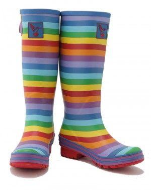 Evercreatures Gummistiefel - Rainbow - bunt gestreift #regenbogen #maritim #streifen