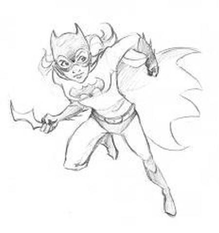 Batgirl Coloring Pages Free