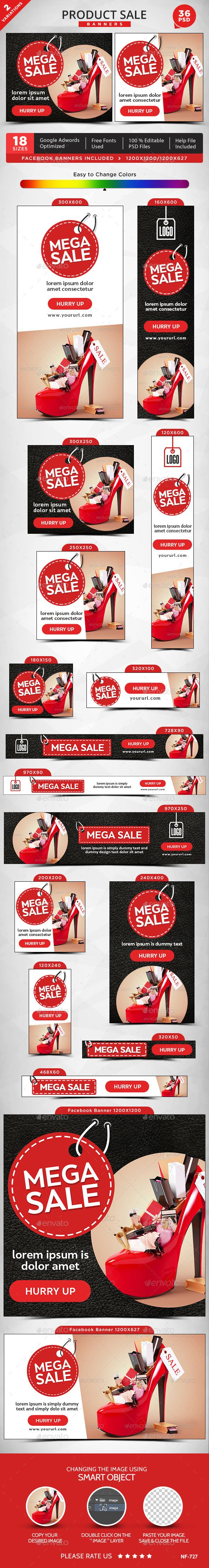 Product Sale Web Banners Template PSD #design #ads Download: http://graphicriver.net/item/product-sale-banners/13274666?ref=ksioks