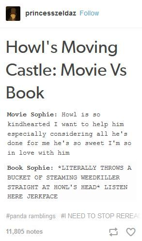 Howl's Moving Castle movie vs book