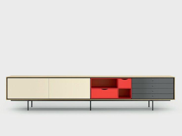 Contemporary style wooden sideboard AURA C9-3 Aura Collection by TREKU   design Angel Martí, Enrique Delamo