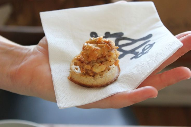{Mini Chicken n' Waffle Appetizers} Move over, sliders... I want to see these being passed around on trays at parties.