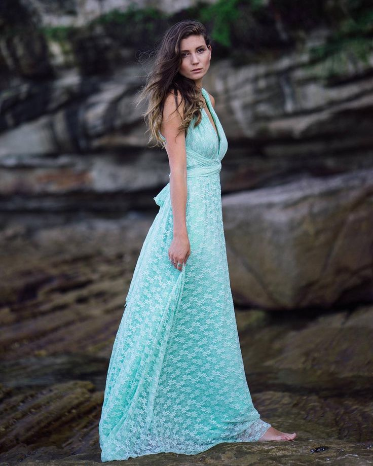 Beach Boho Vibe In This Vintage Lace Multiway Ballgown In