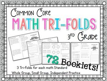 FSA - Test prep for MAFS - third grade math tri-folds - three per standard provides plenty of practice!