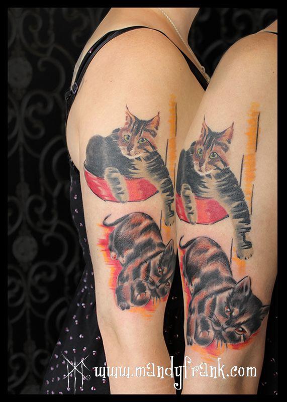 #cat #tattoo #collage #mandyfrank #illustration #hamburg2016