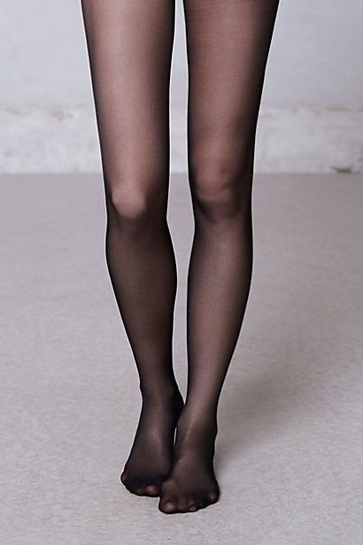Sheer black tights. Staple.
