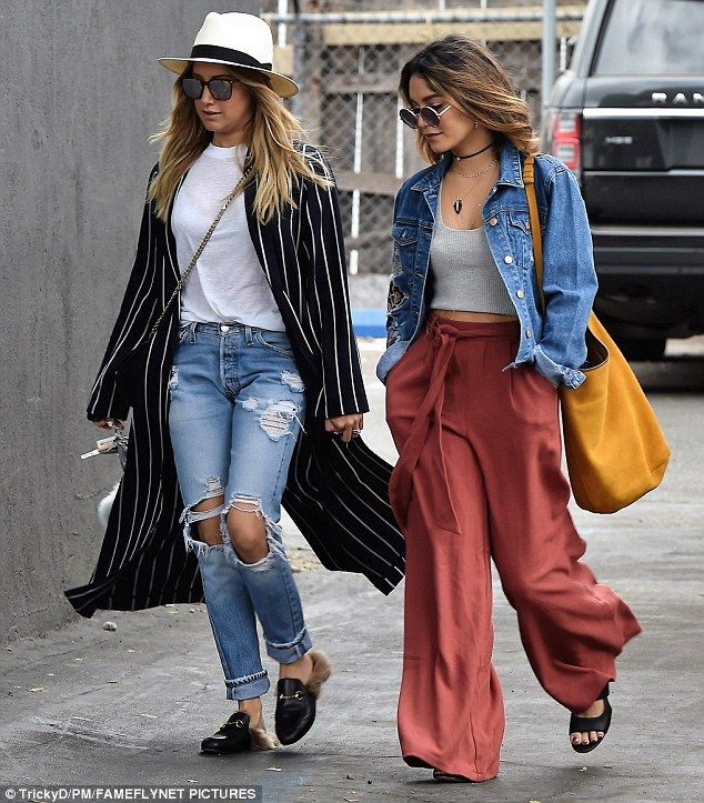 Vanessa Hudgens and BFF Ashley Tisdale show off similar styles on girls' shopping trip | Daily Mail Online