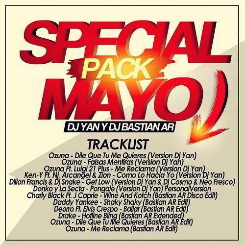 Pack Mayo 2016 Dj Yan & Bastian AR