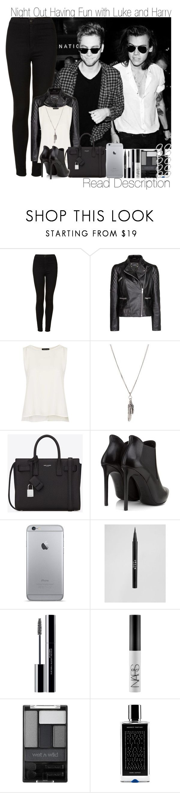 """""""IS 1D BREAKING UP?! Night Out Having Fun with Luke and Ashton"""" by elise-22 ❤ liked on Polyvore featuring Topshop, MANGO, Yves Saint Laurent, Stila, shu uemura, NARS Cosmetics, Wet n Wild, Agonist and ASOS"""