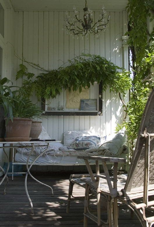 The perfect sleeping porch: Vintage Porches, Rustic Porches, Screens Porches, Sleep Porches, Rustic Patio, Outdoor Retreat, Cozy Porches, Outdoor Spaces, Rustic Cottage