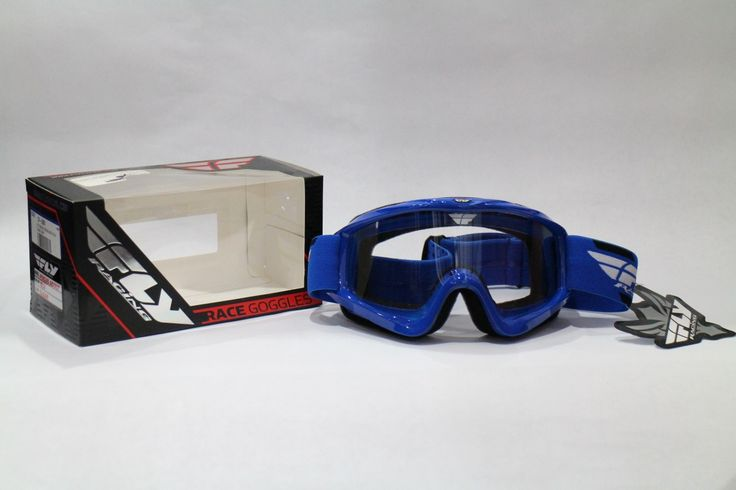 lentes mx fly fox para casco motocross cross azul