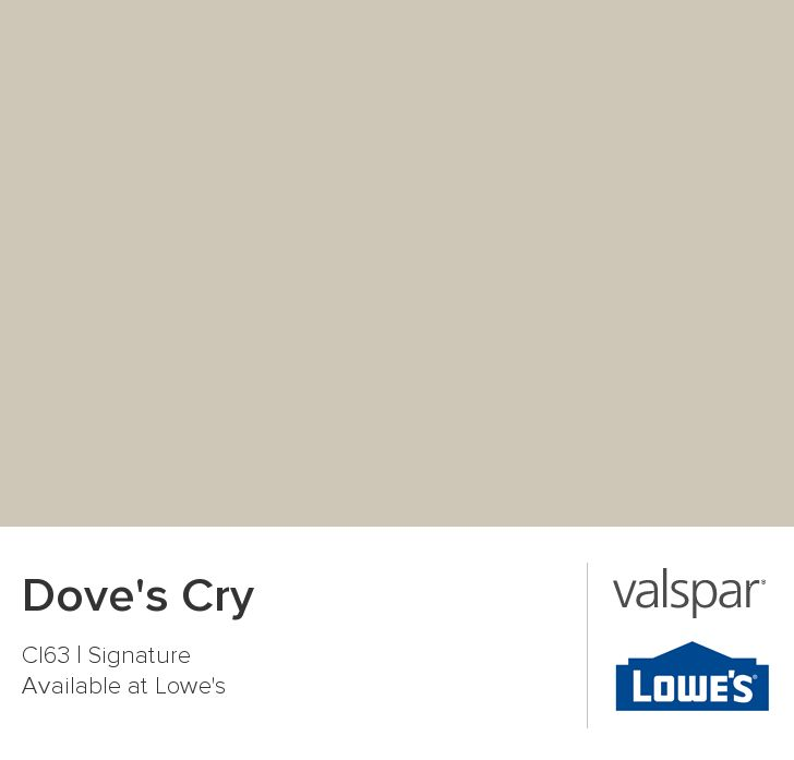 Baby room wall color Dove's Cry from Valspar kitchen
