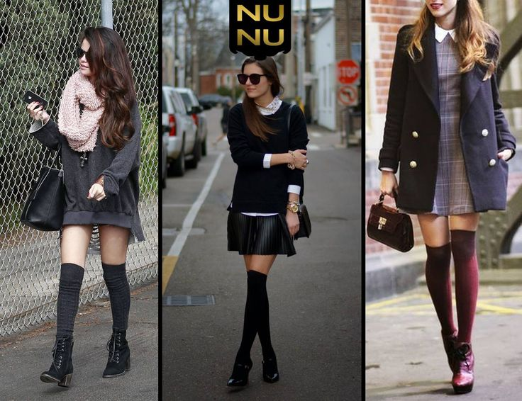 Sonbahar Trendi: Diz Üstü Çorap!  Masum ve seksi bir stil yaratan diz üstü çoraplar ile nasıl mükemmel kombinler yapabilirsiniz? İlham alabileceğiniz görselleri sizin için bir araya getirdik!  #trend #sonbahar #dizüstüçorap