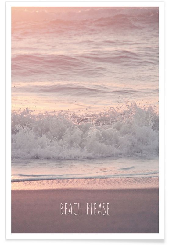 Beach Please als Premium Poster von Monika Strigel | JUNIQE