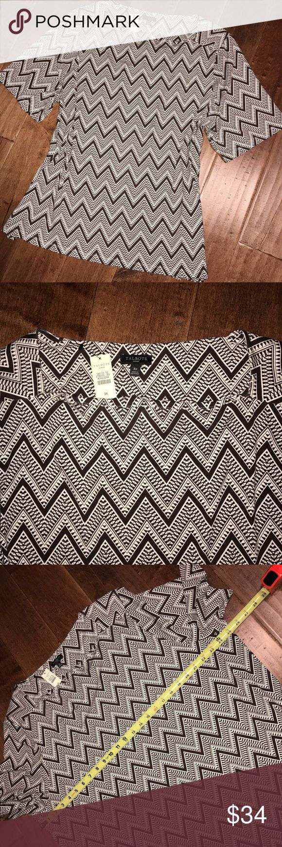 NWT 🆕 Talbots Chevron Blouse New with tags Talbots chevron blouse. Talbots Tops Tunics