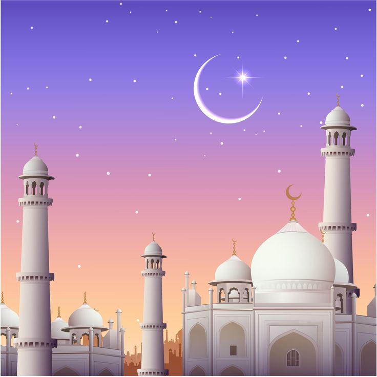 Grafis: Mosque Eid Card Design Vector Background
