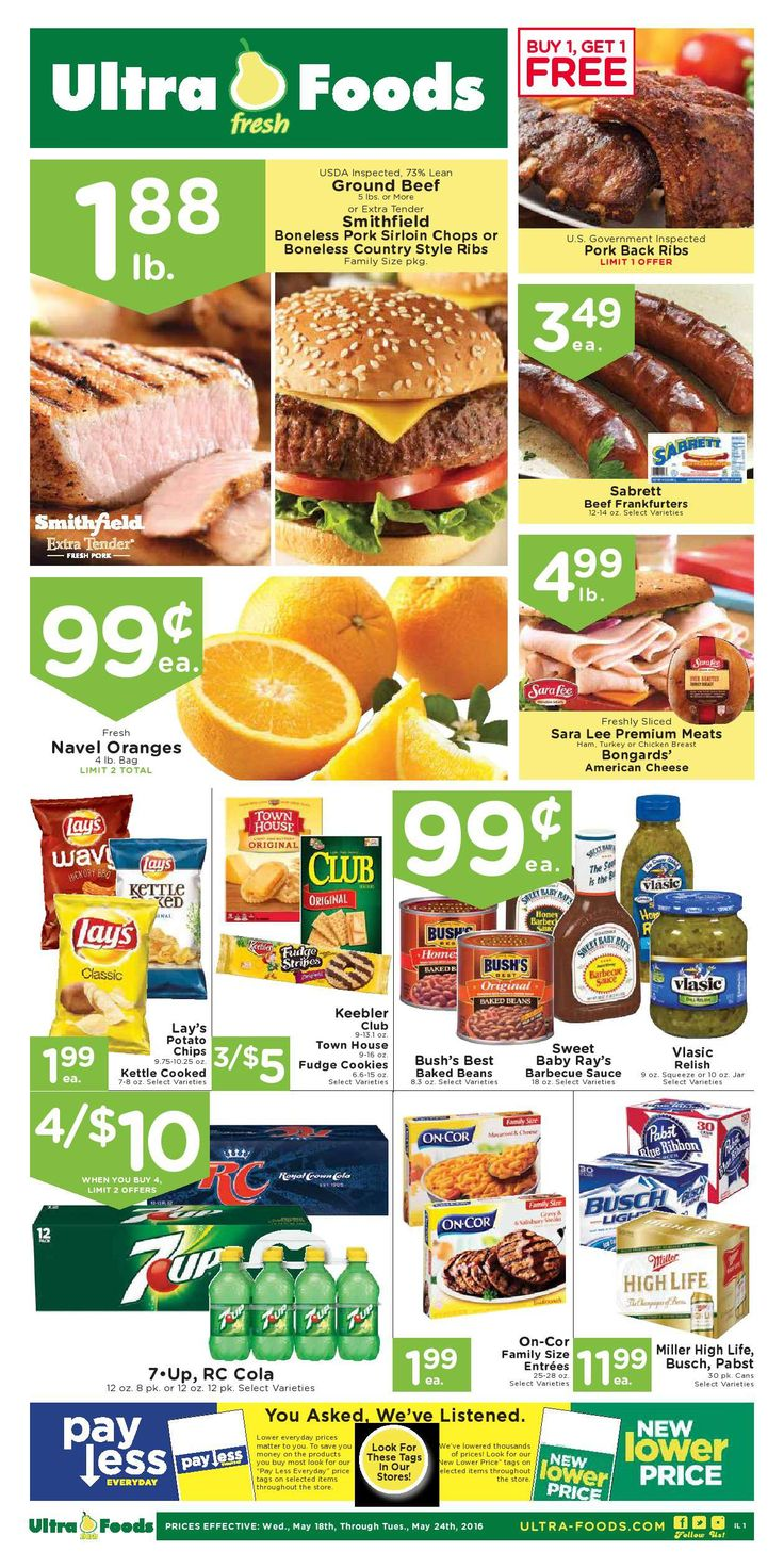 Ultra Foods Weekly Ad May 25 - 31, 2016 - http://www.olcatalog.com/grocery/ultra-foods-weekly-ad.html
