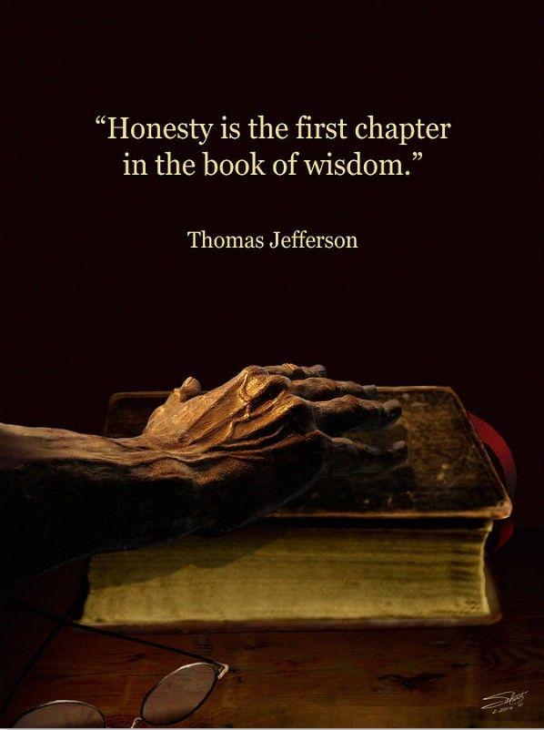 """"""" Honesty """" picture by Matthew Schwartz.  Thomas Jefferson"""