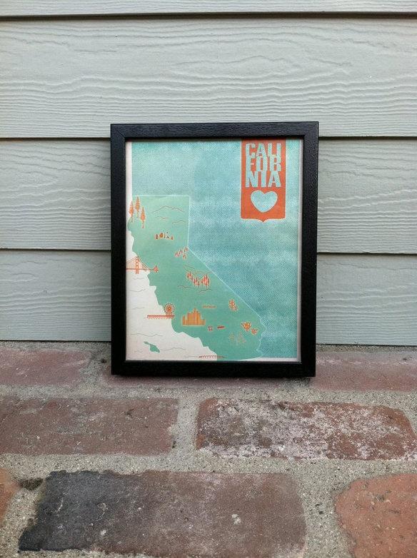 California Lovin' 8x10 print: California Love, California Dreamin, California Lovin, Galleries Wall, California Landmarks, 8X10 Prints, Fletcher Rooms, 11X14 Prints, Cali Dreamin