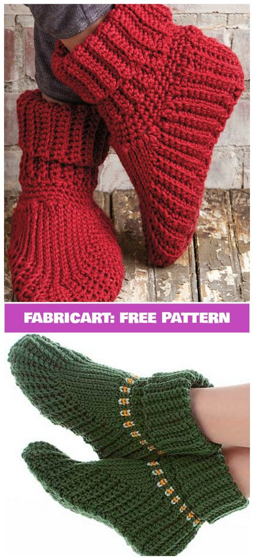 Crochet Women Slipper Boots Free Pattern Perfect For Christmas