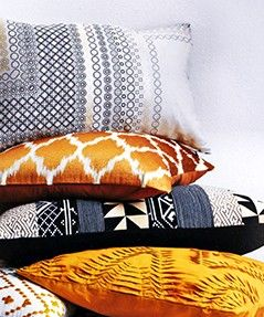 Beautiful cushion inspiration from John Lewis. Add a pop of colour to create a stylish theme for your home