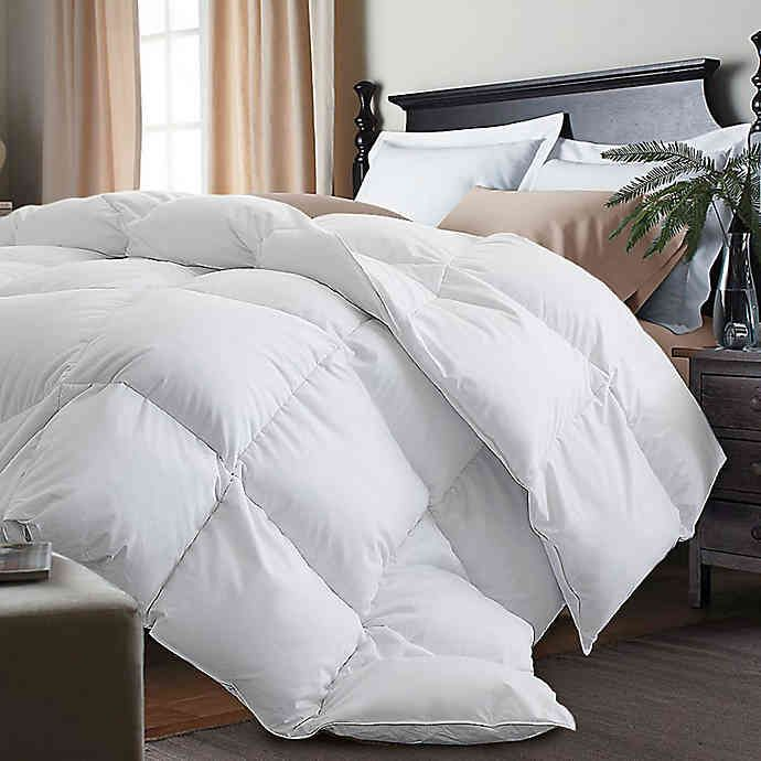 Kathy Ireland White Goose Feather And Goose Down Comforter Down