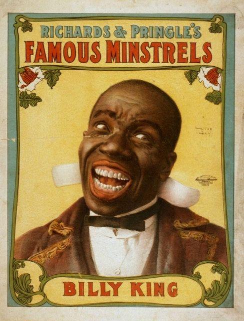 Vintage Vaudeville Minstrel Show Poster Fridge Magnet Billy King Richard Pringles Famous Minstrels Black