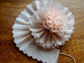 Crepe paper flowers....cute and lovely....reminds me of pOna and her novels
