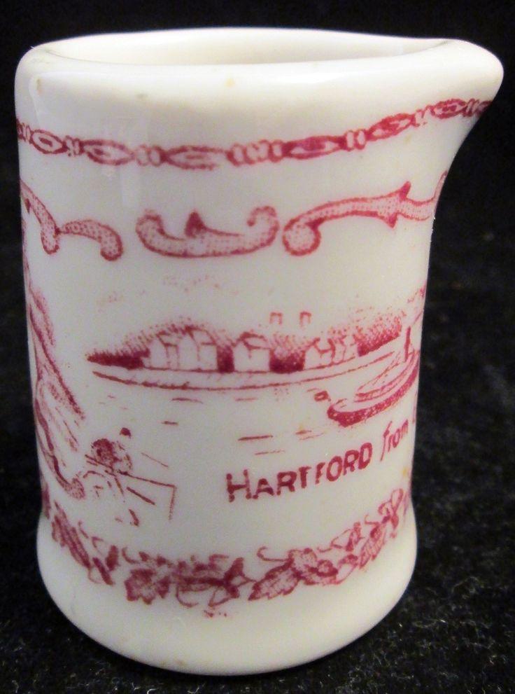 Vintage Hartford Connecticut Restaurant Grade Souvenir Creamer picclick.com
