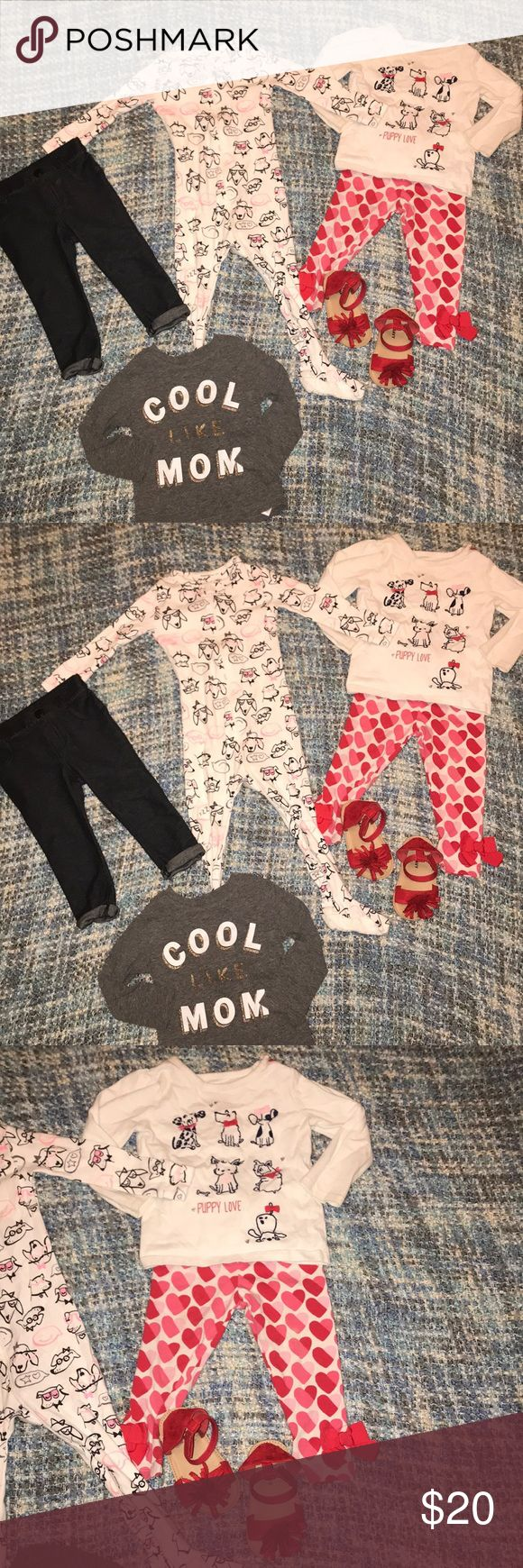 Old navy baby gap Gymboree lot red gray white jean All items are 12-18 months red shoes old navy - Gymboree puppy love shirt with heart leggings - baby gap dog sleeper - old navy jean leggings - old navy cool like Mom shirt GAP Matching Sets