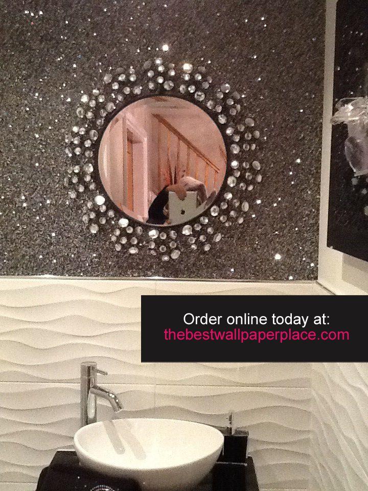 The 25 best glitter stairs ideas on pinterest swarovski silver glitter wallpaper and white - Glitter wallpaper ideas ...