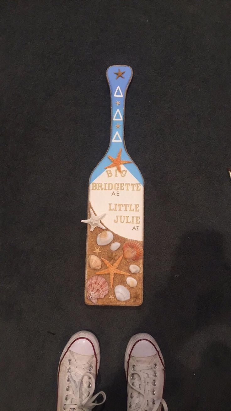 Tri Delta Beach-inspired Paddle #sorority #paddle