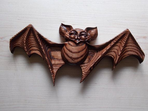 unique halloween decorations by thewoodgraingallery this halloween bat decoration is a cute kind of scary