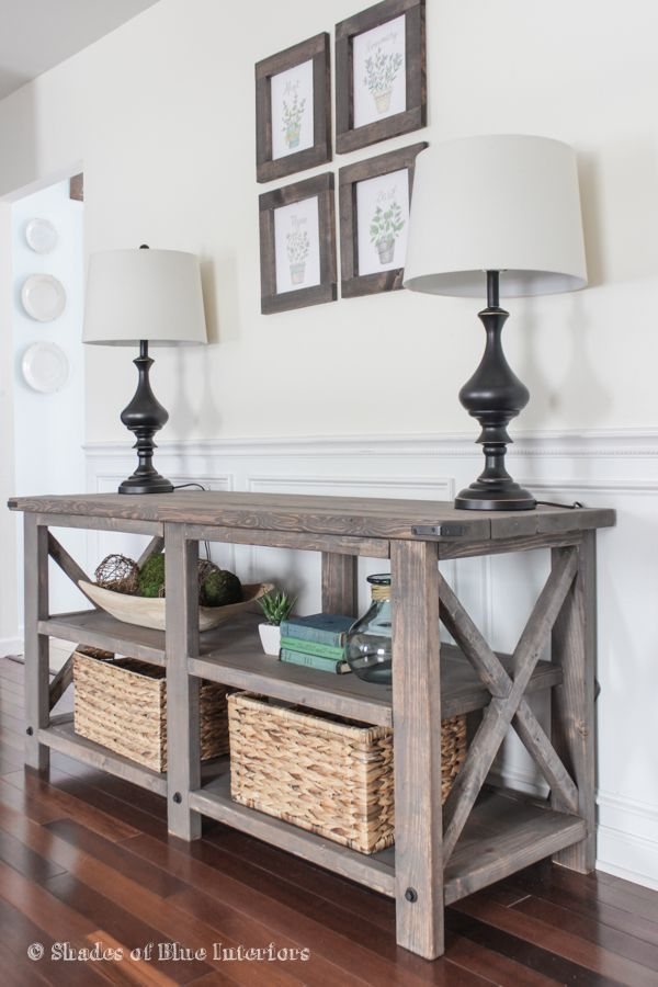 25 best ideas about rustic sofa tables on pinterest for Furniture for the foyer entrance