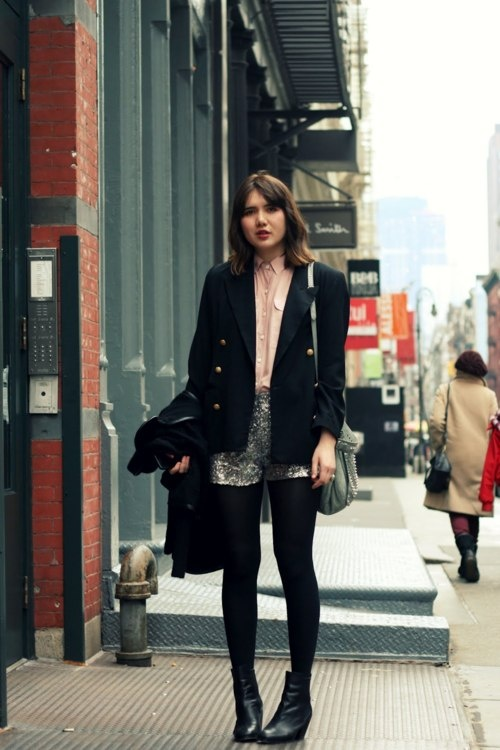 : Black Stockings, Street Fashion, Fashion Addiction, Sequins Shorts, Nightmare Beautiful, Saia Mini-Sequins, Clothing Beautiful, Style File, Beautiful Clothing