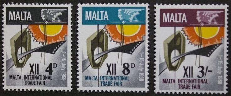 Malta international trade fair stamps, Malta, 1968, SG ref: 402-404 3 stamps MNH