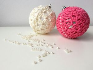 maRRose - CCC --- Beaded Christmas Baubles - free pattern&tutorial