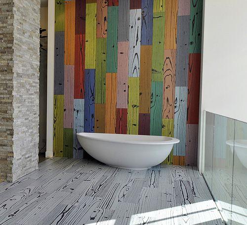 Фарфоровая напольная плитка с текстурой дерева