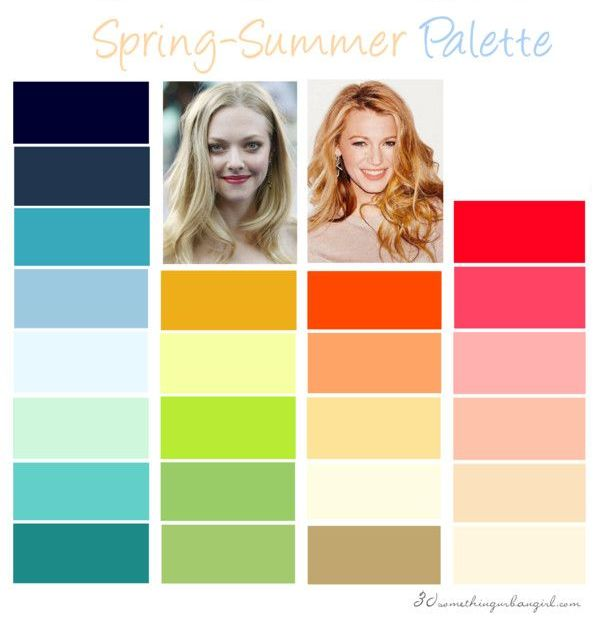 Spring-Summer, Light Spring color palette