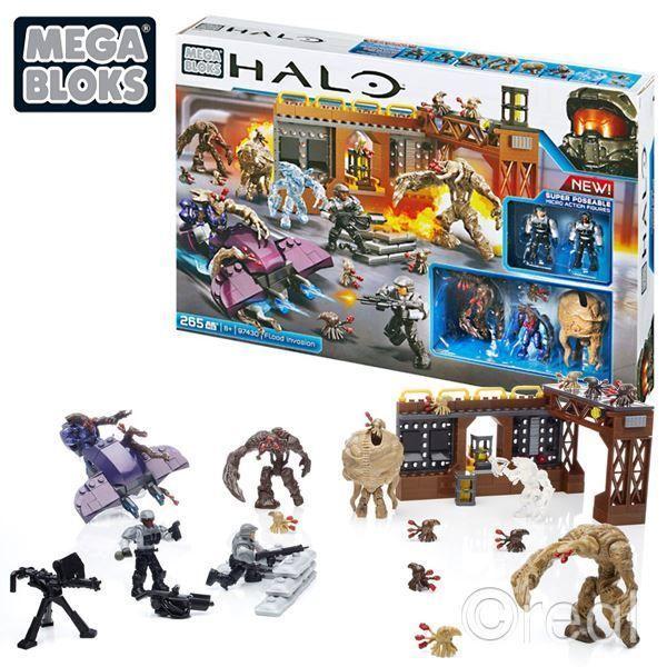 New Mega Bloks Halo Flood Invasion Playset & Figures Control Station Official #Halo