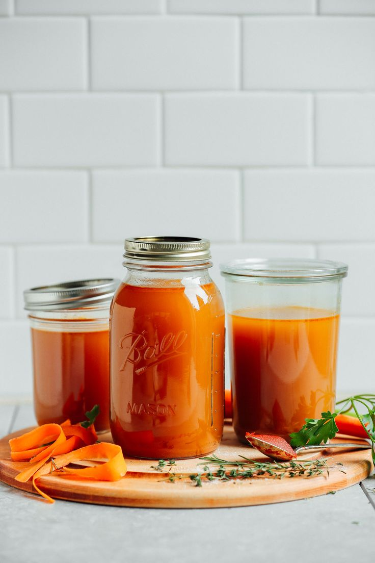 An easy, 1-pot recipe for homemade vegetable broth! The perfect way to use up vegetable scraps and skins to make delicious broth for soups and more!