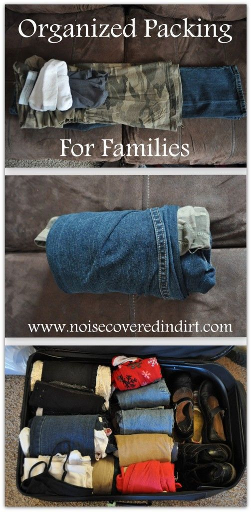Packing Tips: organized packing for families!
