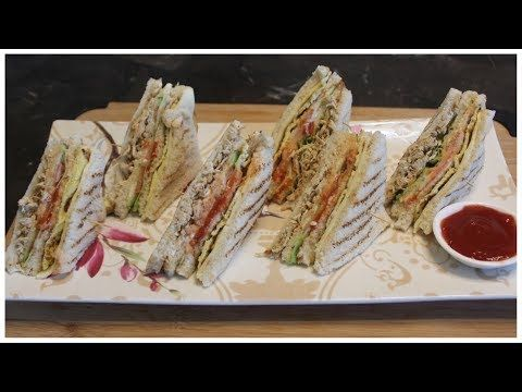 How to Make Chicken Club Sandwiches - Club Sandwich Recipe by Cook with Madeeha - YouTube