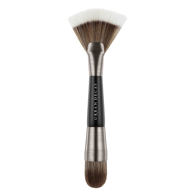Ready to take your contouring skills to the next level? The UD Pro Contour Shapeshifter Brush was specifically developed to use with Naked Skin Shapeshifter (our triple-purpose kit that contains everything you need to contour, color-correct and highlight). This double-ended brush features a domed brush on one end for contouring, color-correcting and blending, plus a large fan brush on the other end for highlighting. It's the ultimate blend of form and function.