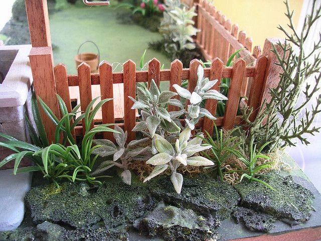 Miniature dollhouse garden   Flickr - Photo Sharing!