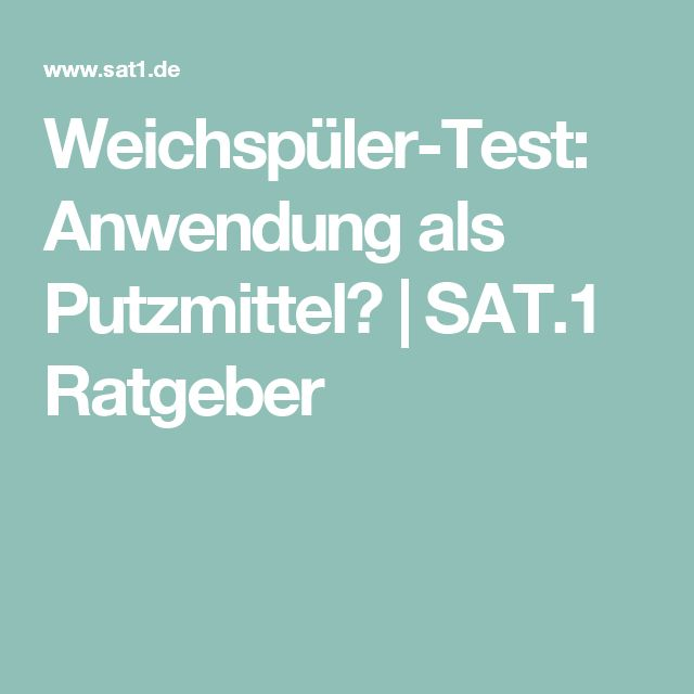 Weichspüler-Test: Anwendung als Putzmittel? | SAT.1 Ratgeber